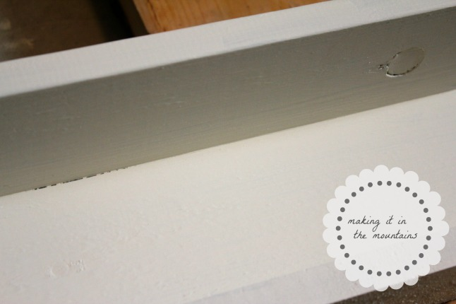 DIY Picture Ledge Shelves | making it in the mountains