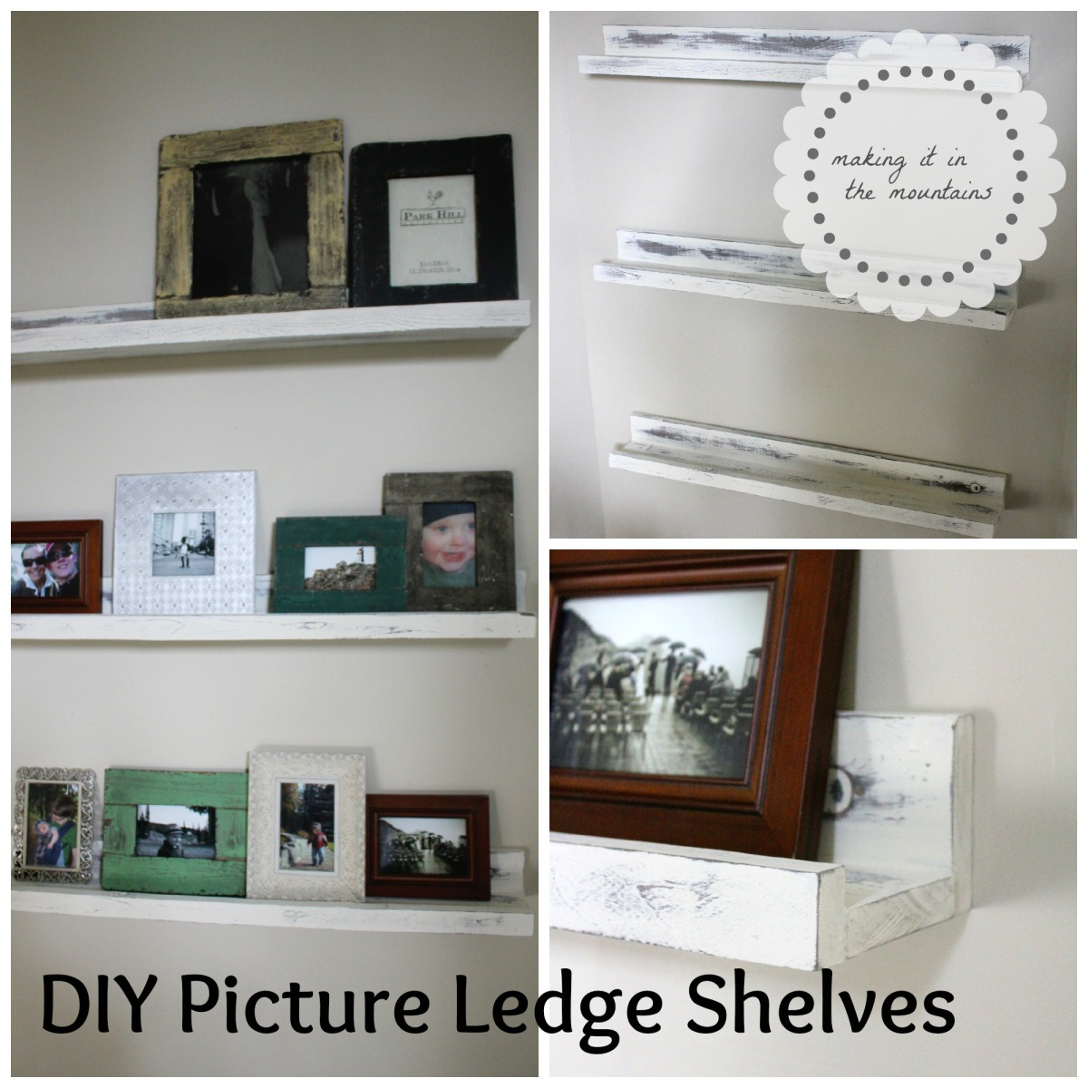 DIY Pottery Barn Picture Ledge Shelves