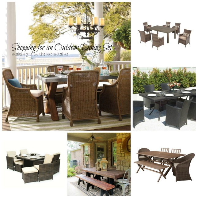 Shopping for an Outdoor Dining Set