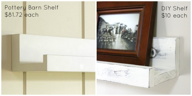 DIY Pottery Barn Shelves | making it in the mountains