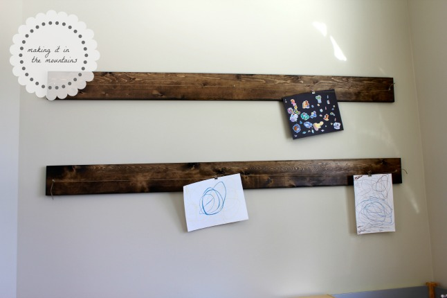 Rustic DIY Art Display Hanger  making it in the mountains