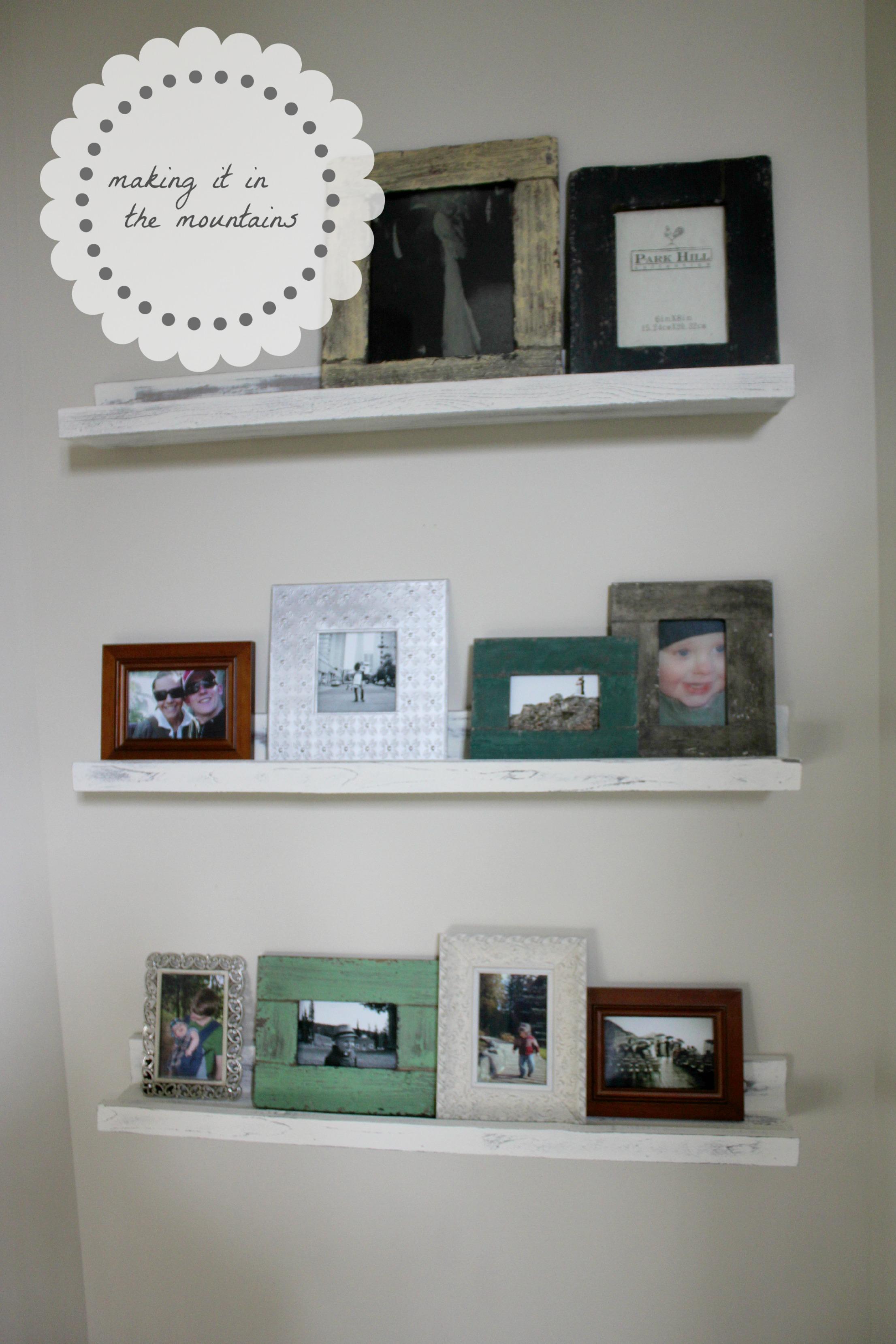 Diy Pottery Barn Picture Ledge Shelves