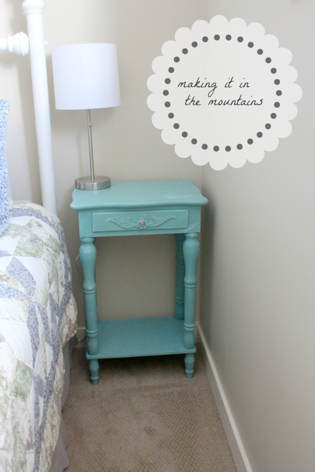 Bedside Table Makeover | making it in the mountains