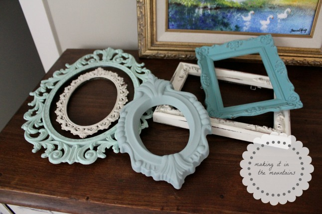 Chalk Painted Frames @ making it in the mountains