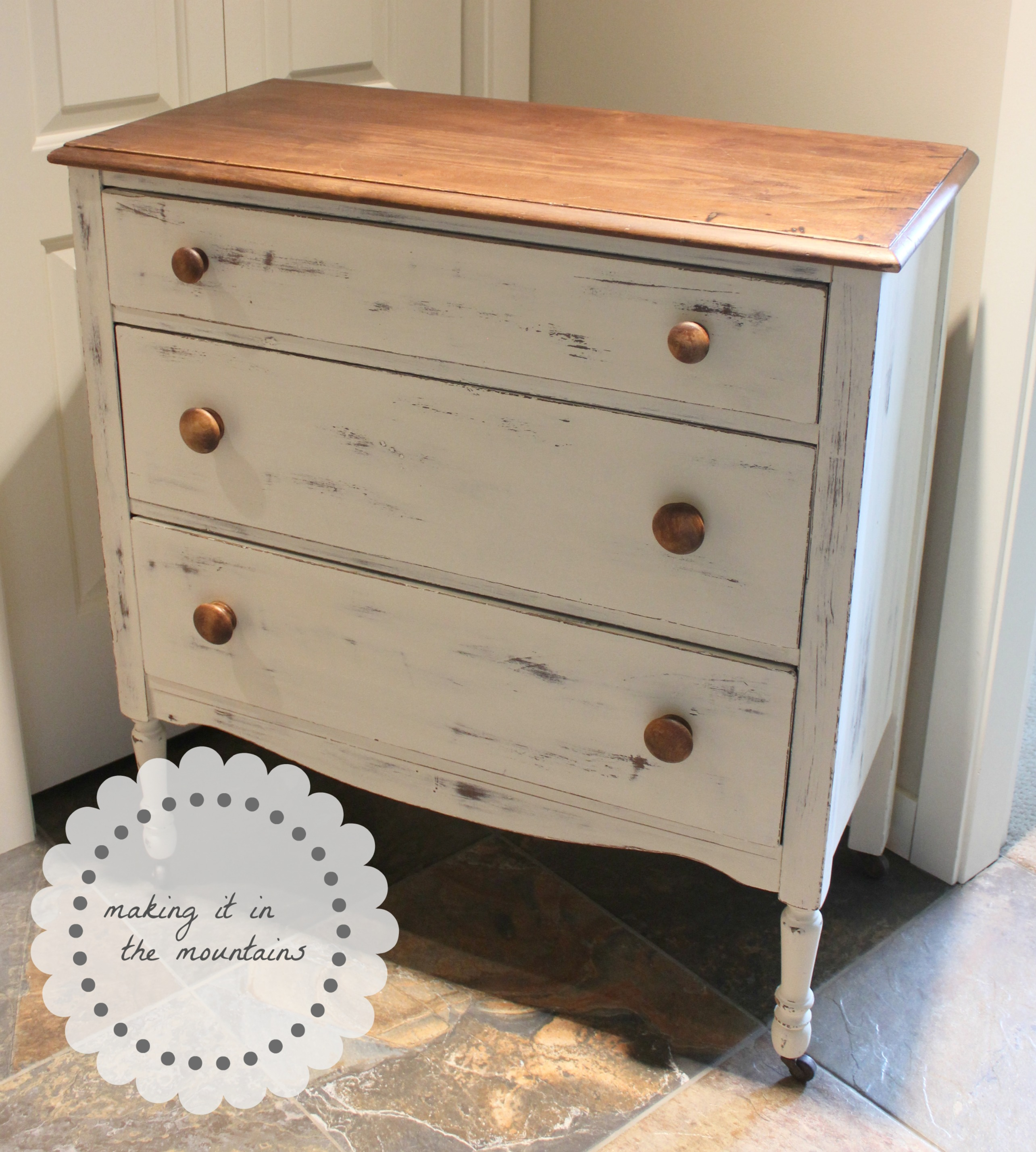 more adventures with chalk paint dresser makeover making it in the mountains. Black Bedroom Furniture Sets. Home Design Ideas