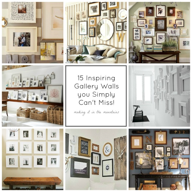 15 Inspiring Gallery Walls | making it in the mountains